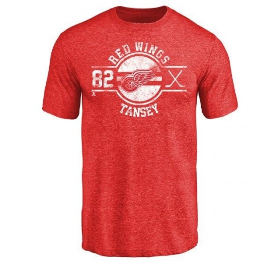 Kevin Tansey Detroit Red Wings Men's Red Insignia Tri-Blend T-Shirt -